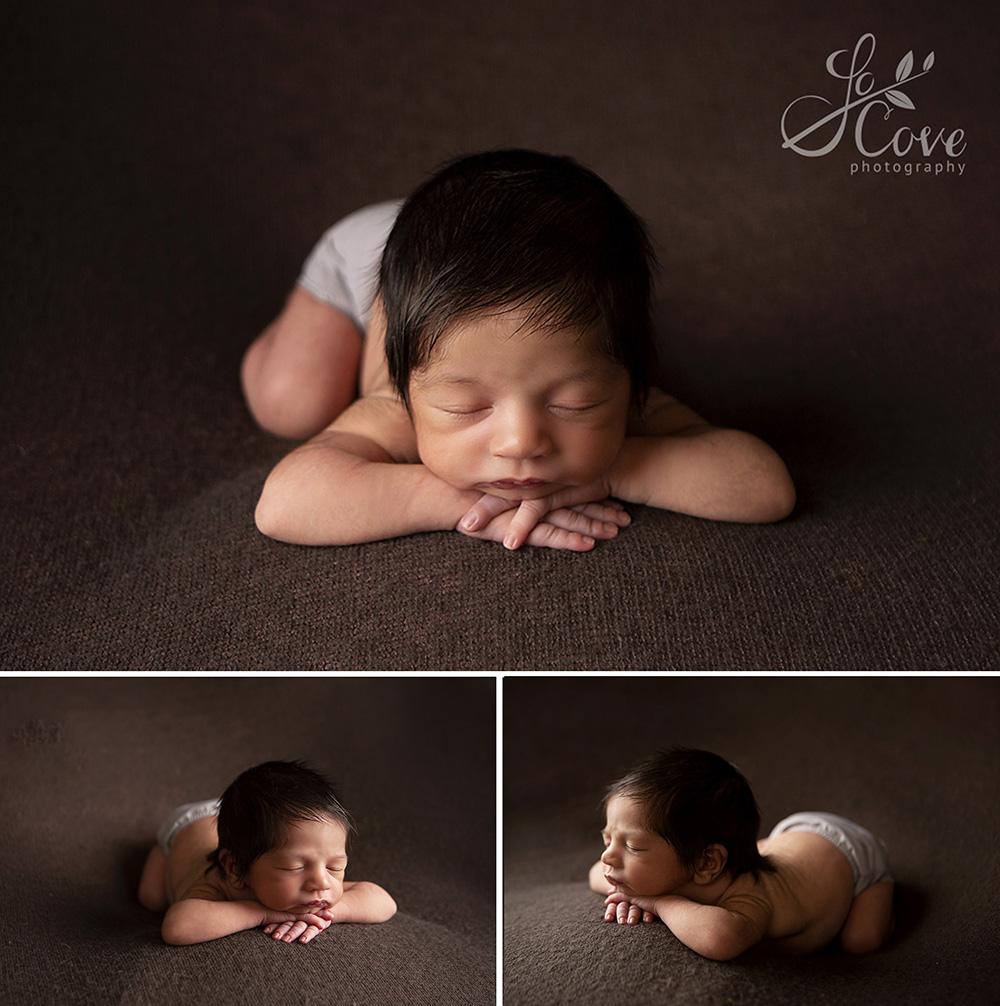 Newborn on beanbag