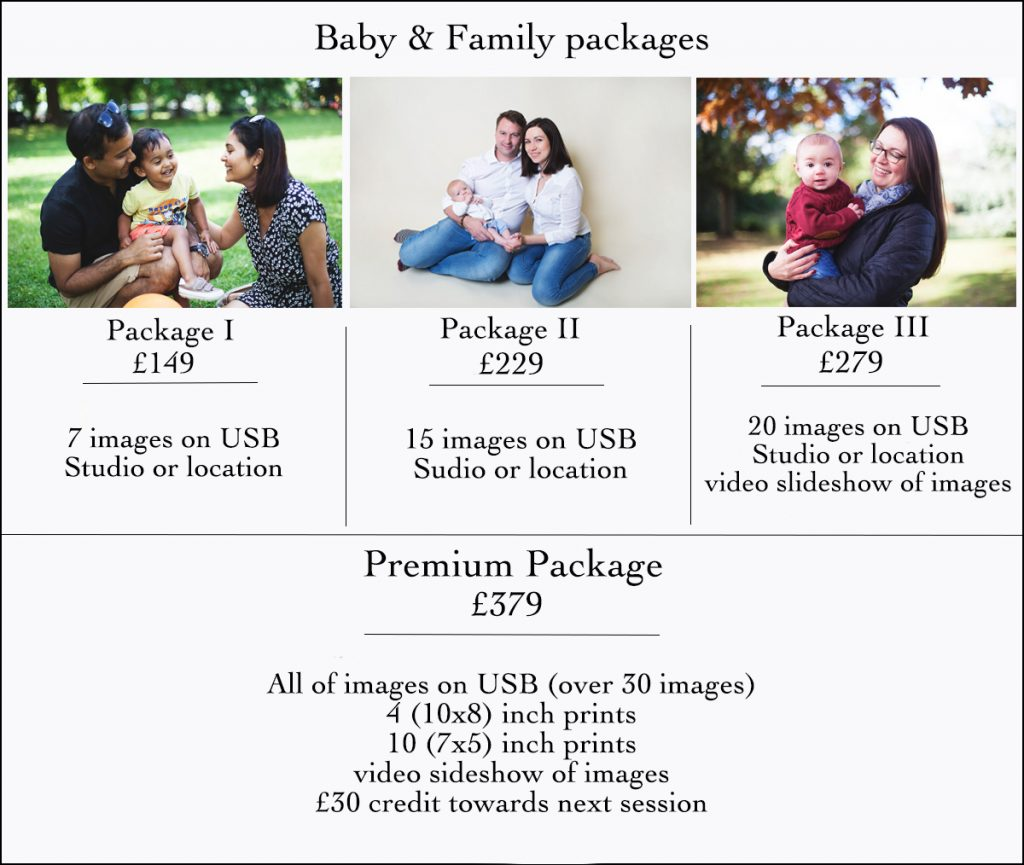 Baby and family prices