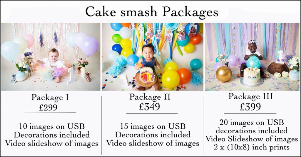 Cake smash photography prices