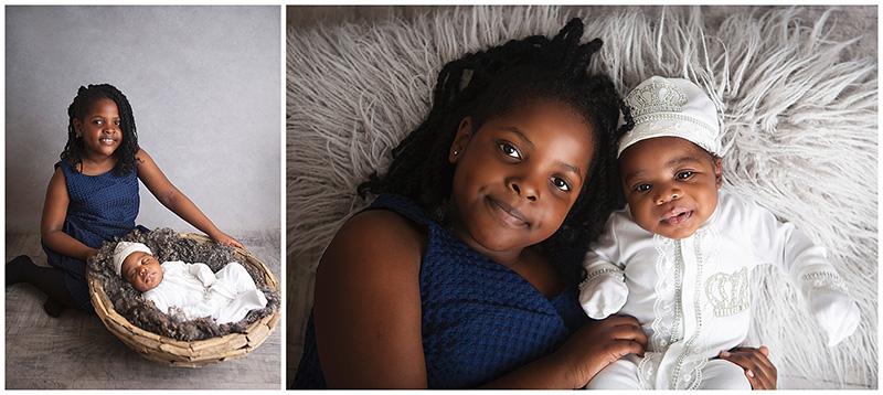 posing newborns with siblings